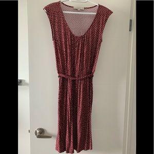 LOFT petite Sleeveless maroon dress
